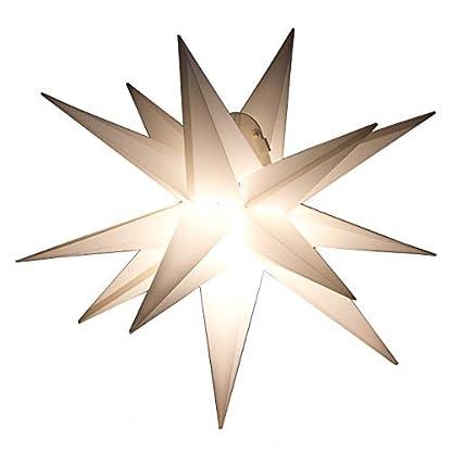 Outdoor-Stern-weiss-beleuchteter-Stern-Weihnachtsstern-Leuchtstern-Faltstern