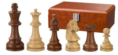 Philos-2064-Schachfiguren-Sigismund-Knigshhe-83-mm-gewichtet-in-Figurenbox