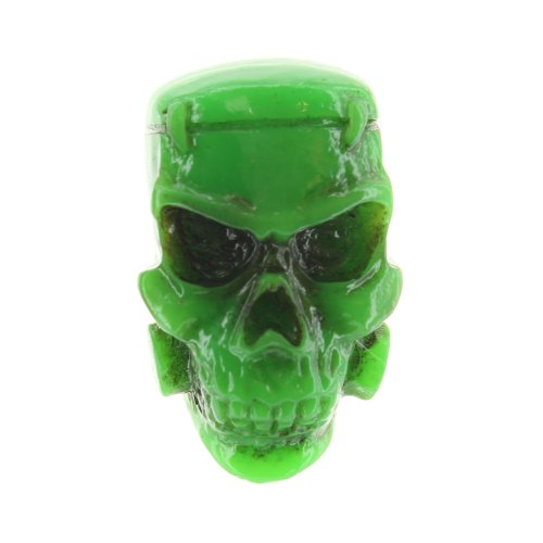 Kreepsville 666 Brosche GREEN MONSTER SKULL BROOCH
