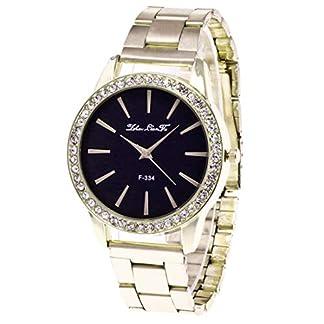 Souarts-Damen-Einfach-Design-Edelstahl-Armbanduhr-Quartzuhr-Analog-mit-Batterie