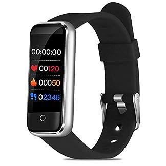ZGYQGOO-IP67-Fitness-Tracker-Fitness-Tracker-mit-BlutdruckmessgeraumlHerzfrequenz-Monitor-Aktivitaumlstracker-Schlaf-Uumlberwachung-Anrufe-SMS-SNS-Erinnerung-Uhr-fuumlr-Android-iOS-Silber