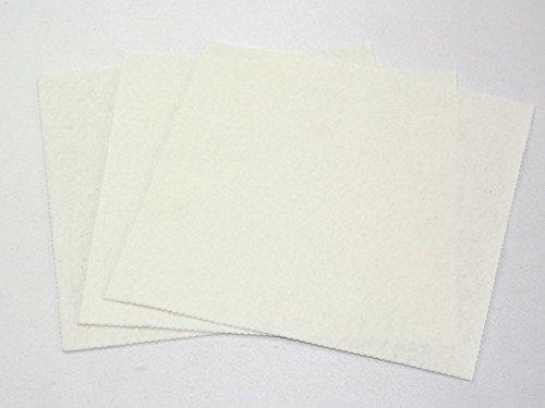 FYBA Filzstoff 45,7cm quadratisch weiß–Pro Blatt + Gratis Minerva Crafts Craft Guide