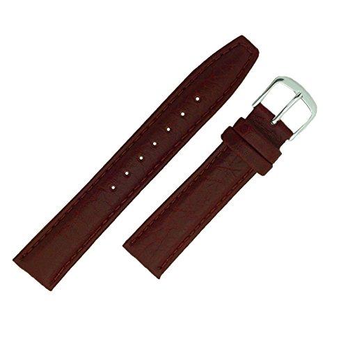 Hadley-Roma-ms788-18-mm-Herren-Tan-geschrumpft-Getreide-genht-Leder-Armbanduhr-Band