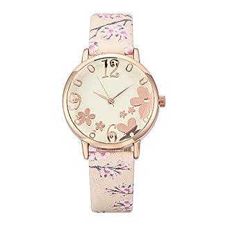 UINGKID-Damen-Armbanduhr-Analog-Quarz-Damenmode-geprgte-Blumen-kleine-frische-gedruckte-Grtel-Student-Uhr