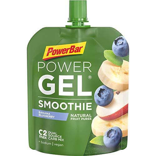 PowerBar Performance Smoothie aus Fruchtpüree – Mit Kohlenhydraten, Maltodextrin & Natrium – Energie Gels ohne Konservierungsstoffe – Vegan, Banana Blue Berry, (16 x 90g)