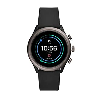 Fossil-Herren-Smartwatch-mit-Silikon-Armband-FTW4019