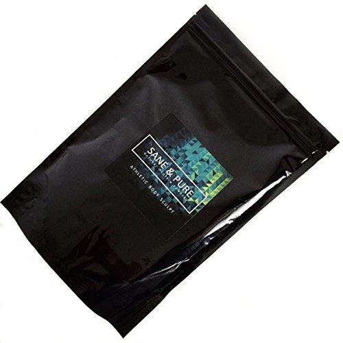 SANE & PURE® ATHLETIC BODY SCULPT Premium Vegan Protein 80%, naturbelassen, gekeimt, fermentiert, hypoallergen, GMO-frei, 1er Pack (1 x 1000 g)