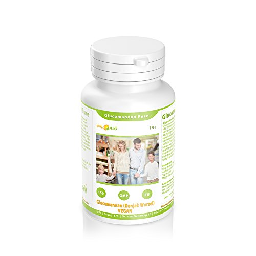 Glucomannan Pure – Sättigungskapseln – Veganer Ballaststoff – 100% Konjac Wurzel