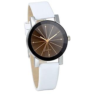 JewelryWe-4pcs-Damen-Armbanduhr-Analog-Quarz-Klassiker-Elegant-Business-Casual-Uhr-mit-Schwarz-Rund-Zifferblatt-Leder-Armband-4-Farben