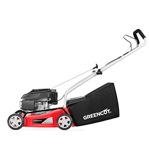 GREENCUT-glm660sx–Antrieb-manuell-Motor-Benzin-Rasenmher-40-cm-220-V-rot