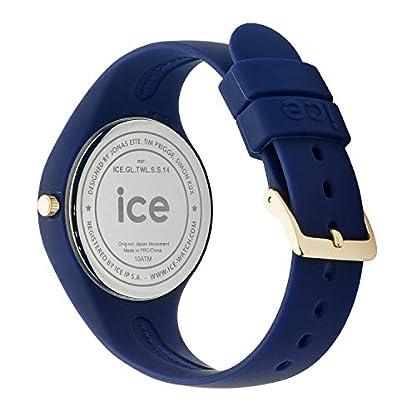 Blaue Glam Damenuhr Mit Ice Forest Watch Twilitght Silikonarmband qSLMVUpGzj