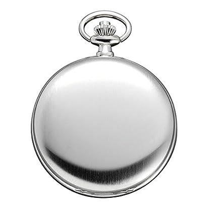 Regent-Taschenuhr-Quarz-Silber-Arabische-Ziffern-P21