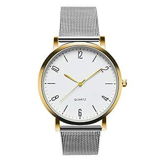 Cysincos-Unisex-Klassisch-Einfach-Armbanduhr-Quarz-Analog-Mnner-Handgelenk-Uhren-mit-Edelstahl-Armband-Quarzuhr-fr-Damen-und-Herren