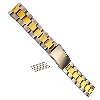 Sharplace-Edelstahl-Armband-Uhrarmband-Metallarmband-Klassische-Schnalle-Mode-Schmuck