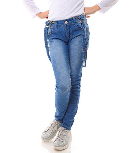 Mädchen Jeans Latz Hose Stretch Jeanshose Röhren 21739