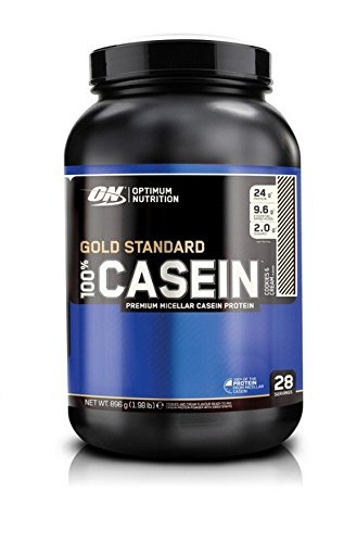 Optimum Nutrition 100 percentage Gold Standard Casein – Cookies and Cream, 1er Pack (1 x 896 g)