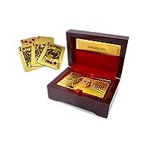 Freeship-Deals-Vergoldete-Spielkarten-mit-Etui-Machen-Sie-Ihre-Zaubertricks-luxuriser-und-kreativer-fr-Familie-und-Freunde-Gold-24K