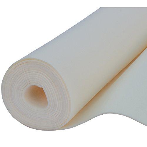 Filz, Filzstoff, Dekorationsfilz, imprägniert, Breite 100 cm, Dicke 4 mm, Meterware 0,5 lfm – écru