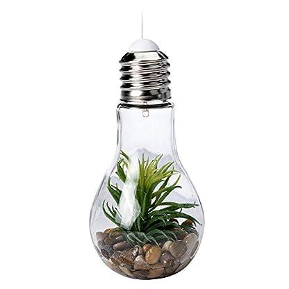 Mojawo-LED-Glhlampe-Deko-Lampe-Glas-mit-Kunstpflanze-zum-aufstellen-oder-hngen-kabellos–9-cm-H-185-cm