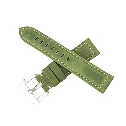 Luxus-Mens-der-Frauen-breite-Uhrenarmbnder-weichen-Kalbsleder-Uhrenarmbnder