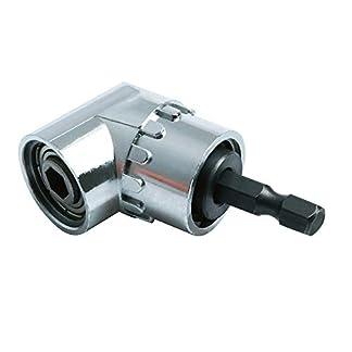 Zihuist-Winkelschrauber-Vorsatz-Adapter-14-Zoll-Schnellwechsel-und-magnetischen-Bithalter-Winkelschraubendreher-Winkelgetriebe-105-Angle-Bit-Halter-Fr-das-Bohren-von-Narrow-Space