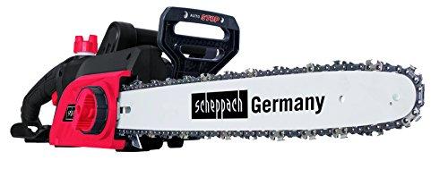 Scheppach-5910202901-SgeKettensge-Elektro-Kettensge-CSE2400-ideal-fr-alle-Sgearbeiten-rund-ums-Haus-einfache-kompakte-und-leichte-Bauweise-werkzeugloser-Kettenwechsel-24-kW-Motor