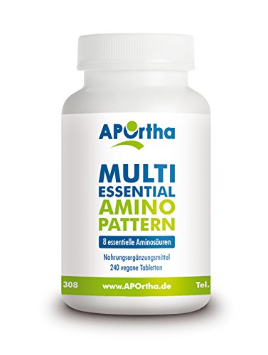 APOrtha Multi essential Amino Pattern – 8 essentielle Aminosäuren – 240 vegane Tabletten