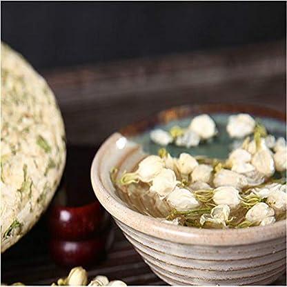 200g-044LB-Jasmintee-Knospe-Blumen-Tee-Grn-Pu-erh-Tee-Kuchen-Blhender-Krutertee-duftender-Tee-Blumentee-Botanischer-Tee-Krutertee-Grner-Tee-Roher-Tee-Blumentee-Gesundheit-Tee-Chinesischer-Tee