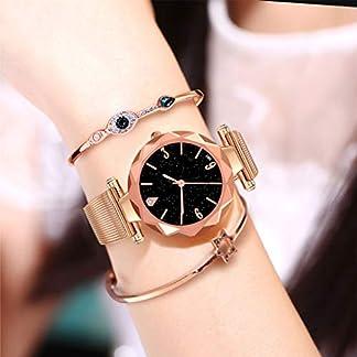 Lazzgirl-Art-und-Weisefrauen-beilufige-Uhr-Luxus-analoge-Quarz-sternenklare-ArmbanduhrOne-Size