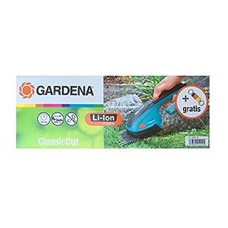 Accu-Grasschere-Classiccut-Gardena-8885-32-mit-Schlsselanhnger-Limited-Edition