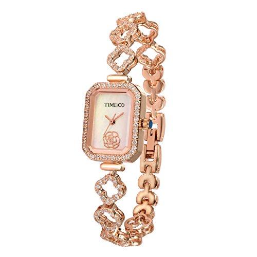 Time100-Damenuhr-rautenfrmiges-Zifferblatt-mit-Strass-Kupfer-lngeres-Band-Armbanduhr-Quarz-Analog-Uhr-W50370L02A