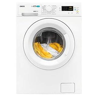 Zanussi-ZWD71663W-Waschtrockner-Frontlader-Waschmaschine-7-kg-mit-Trockner-4-kg-wei-sparsamer-Waschautomat-und-Wschetrockner-Material-und-Mengenautomatik-9520-kWhJahr