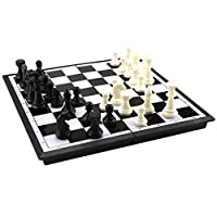 Sharplace-Tragbar-Magnet-Schach-1-Faltbare-Schachbrett-32-Schachfiguren-Perfekt-fr-Kinder-Geschenk-Spielzeug