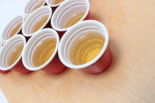 Shot-Pong-Premium-ein-Hochwertiges-Trinkspiel-fr-jede-Party-inkl-25-Orginal-Mini-red-cups-Die-perfekte-Geschenkidee-Der-Mini-Beer-Pong-Tisch-fr-jede-Party-Vodka-Pong-Gin-Pong