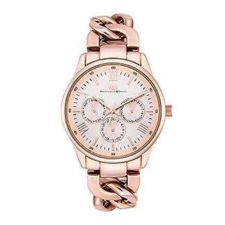 Rhodenwald-Shne-Brana-Damenuhr-Quarzuhr-Edelstahl-rosgoldrosgold-3-ATM-Przisions-Quarzwerk-Multifunktions-Optik-Metall-Gliederarmband-rosgold-Quarzuhr-Armband-Uhr-analog-rosevergoldet