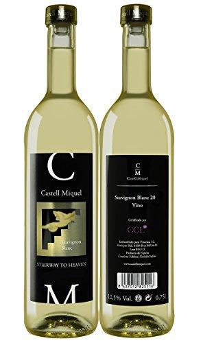 100-Weihnachten-Castell-Miquel-Blanco-Weiwein-Weinachtsgeschenk-Set-Stairway-to-Heaven-Geschenkset-Spanischer-Wein-Das-Wein-Prsent-fr-Kenner-und-Liebhaber-Chardonnay-Riesling