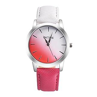 Souarts-Damen-Armbanduhr-Farbverlauf-Einfach-Stil-Analoge-Quary-Uhr-24cm-Wei-Rot-Farbverlauf