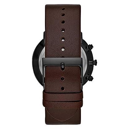 Fossil-Herren-Chronograph-Quarz-Uhr-mit-Leder-Armband-FS5485