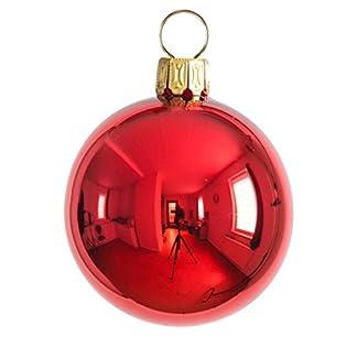 Thringer-Weihnacht-Christbaumkugel-Set-uni-rot-glnzend
