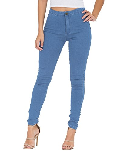 Jeans Damen,EASTDAMO Skinny Jeans Denim High Waist Slim Leggings Röhrenjeans Bleistifthose Bleistift Hose