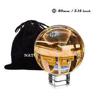 NATURAIS-Fotografie-Kugel-aus-K9-Kristall-Glas-mit-Beutel-und-Sockel-80mm-Glaskugel-Landschaftsfotografie-Zubehr-Kristallkugel-fr-Dekoration