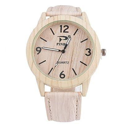 Souarts-Damen-Retro-Holz-Streifen-Uhr-Armbanduhr-Quartz-Analog-mit-Batterie