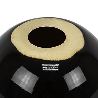 L-Keramik-Moderne-Deko-Kugel-Tischdeko-D-13-cm-Gren-schwarz-glnzend-Ball-Blackball