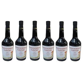 6x-Tsantali-Makedonikos-Rotwein-a-750-ml-roter-griechischer-trockener-Rotwein-Rot-Wein-trocken-6er-Set-2-Probier-Sachets-Olivenl-aus-Kreta-Griechenland-a-10-ml