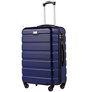 COLIFE-Hartschalen-Koffer-Trolley-Rollkoffer-Reisekoffer-mit-TSA-Schloss-und-4-Rollen