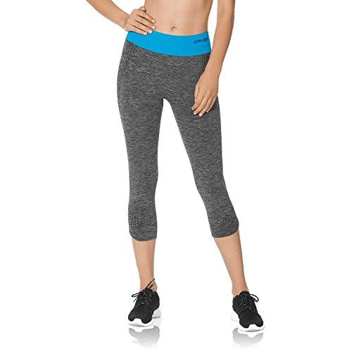 CFLEX Women Sportswear Collection – Damen Stretch Sport Leggings – Sporthose Capri Pant – Für Fitness Laufen – Größen S-XL – Qualität von celodoro