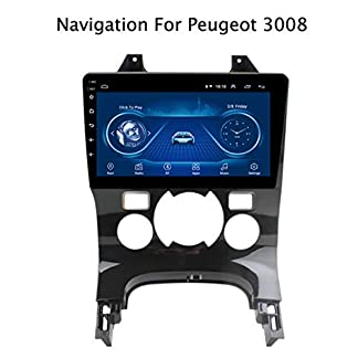 1-Din-Android-81-1080P-Touch-Screen-Multimedia-Player-GPS-Navigationsgerte-Auto-fr-Peugeot-3008-2009-2012-CanbusBluetoothFreisprechfunktionFMAMWiFiAUXUSBLenkradsteuerung