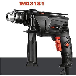 Bohrmaschine-LOMVUM-810W-SchlagbohrmaschineHammer-Bohren-2-Funktionen-in-1-3000-RPM13mm-Keyed-Chuck360-Grad-verstellbarem-Zusatzhandgriff