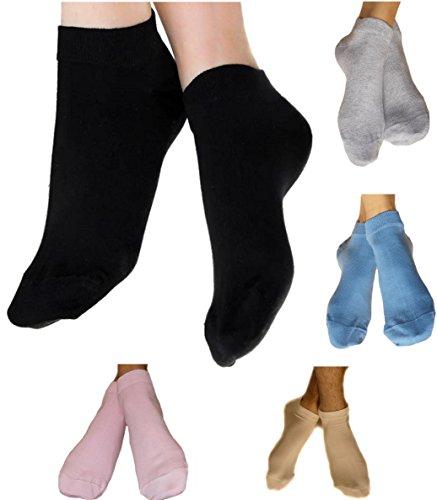 Damen Herren Sneaker Socken 98% Bio-Baumwolle GOTS Sneakersocken Söckchen 1-3-6-12-18 Paar Füßlinge