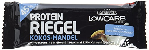 Layenberger LowCarb.one Protein-Riegel Kokos-Mandel, 18er Pack (18 x 35 g)